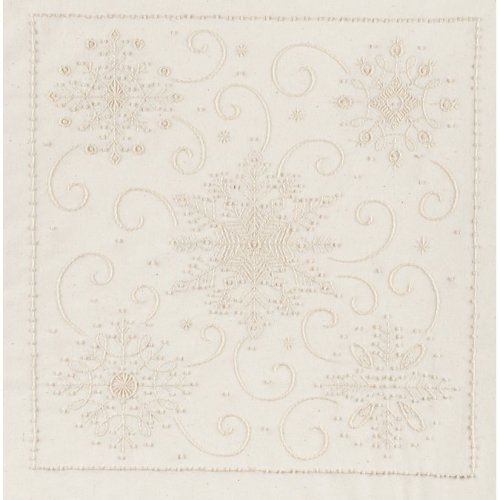 """Janlynn Candlewicking Embroidery Kit 14""""X14""""-Snowflakes-Stitched In Thread"""