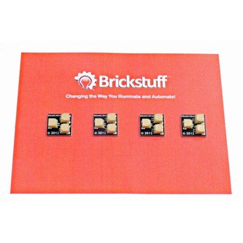 Brickstuff 1:2 Expansion Adapter (4-Pack) for Lighting LEGO Models - BRANCH04-4PK