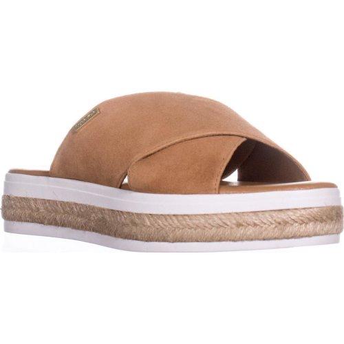 Calvin Klein Jupare Platform Espadrille Sandals, Almond Tan, 6 UK