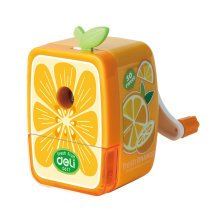 Fresh Fruit Manual Pencil Sharpener for Office and Classroom (Orange)