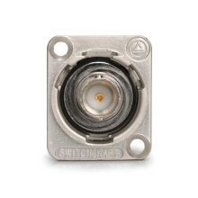 Switchcraft Chassis Mount BNC Coupler Silver