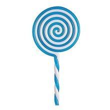 22cm Blue Fancy Dress Lollipop - - Fun Kids School Girl Costume Outfit Accessory - Lollipop 22cm - Blue Fun Kids School Girl Fancy Dress Costume