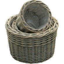 Provence Round Garden Planters Set of 3