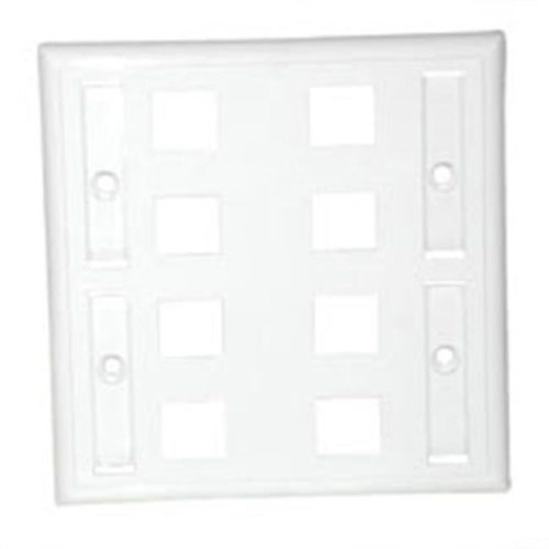 Cables To Go 03415 8-PORT MULTIMEDIA KEYSTONE WALL PLATE - WHITE