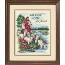 D03222 - Dimensions Stamped X Stitch - the Lord is My Shepherd