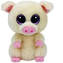 """Ty Beanie Boo 6"""" Piggley the Pig"""