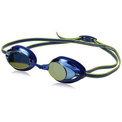 Speedo Jr Vanquisher 2 0 Mirrored Swim Goggles Blue 1Sz