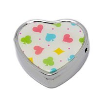 Pill Box For Pocket or Purse/ Multifunction Small Jewel Box Case  H