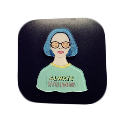 Woman Style Eyekan Contact Lens Case Lenses Holder Box Travel Kit Case #5