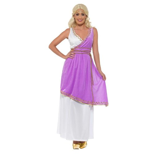 Grecian Goddess Costume, Roman/Greek/Toga Fancy Dress, UK Size 12-14