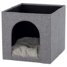 Ella Cuddly Cave For Shelf, 33 × 33 × 37 Cm, Grey - Trixie Cats New -  trixie cats cuddly cave ella grey new