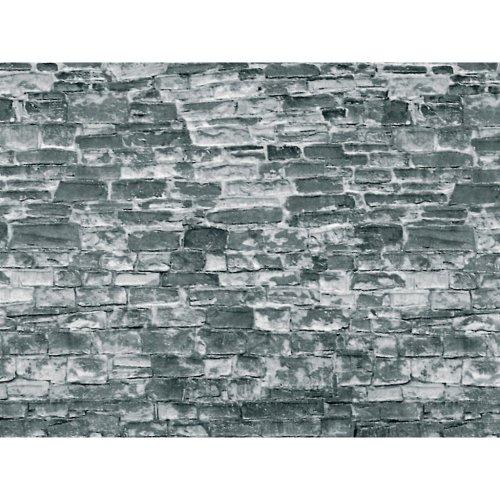 3x Grey Natural Stone Wall Cardboard - Vollmer 46055 OO/HO decor free post