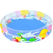 Bestway Sea Life Paddling Pool - 36 x 8 Inches, Transparent