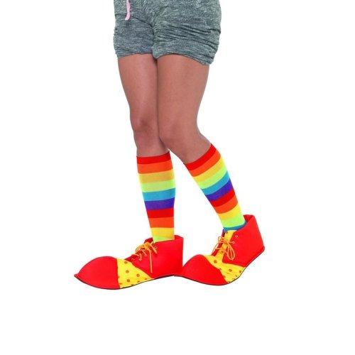 Spotty Clown Shoe Covers, Fancy Dress, One Size