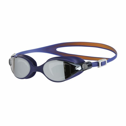 Speedo Women V-Class Virtue Mirror Goggles, Fluo Orange/Ultramarine/Silver, One Size