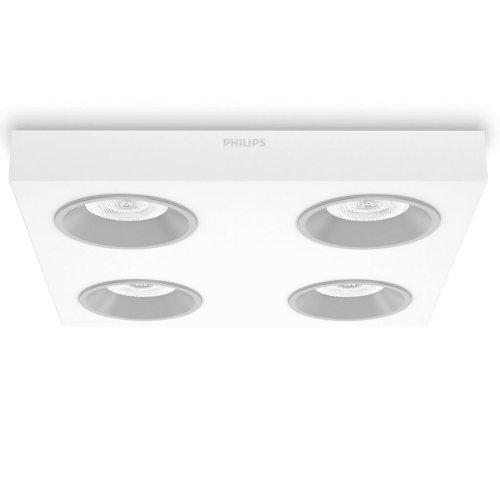 Philips LED Ceiling Lamp Instyle Quine White 4x4.5 W 312143116