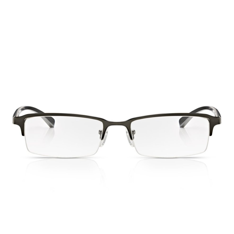 e875b2169fc3 Read Optics Mens Clear Lens Reading Glasses: Classic Metal Half Frame with  Spring Hinges.