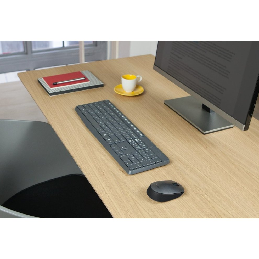 Logitech MK235 Wireless Keyboard with Mouse Combo for Windows, Linux and  Chrome OS - AZERTY, French Layout