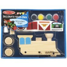 Melissa & Doug Wooden Train -decorate-your-own