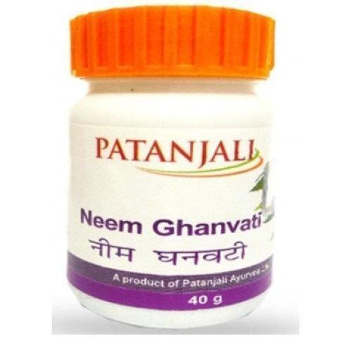 5 Pack Baba Ramdev -Patanjali Neem Ghan Vati by Divya 40gms each