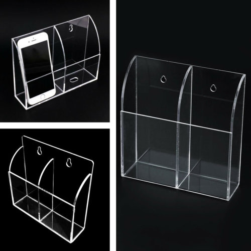 DVD TV Remote Control Holder Wall Mount Clear Acrylic Organiser Box Rack Storage