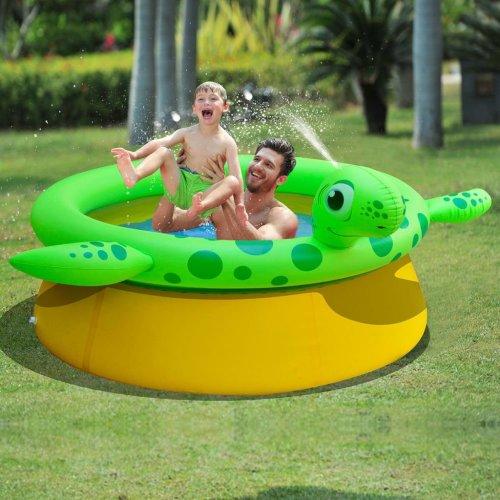 Jilong Inflatable Spray Pool Turtle Shape 175x62 cm 1270 L