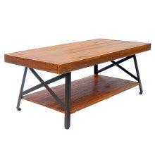 HOMCOM Tea Table, 121Lx60Wx48H cm, Acacia Wood-Brown