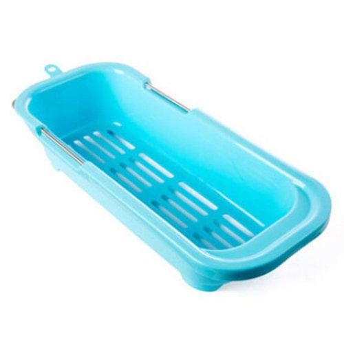 Dish Drainer Rack Collapsible Over Sink Dish Drainer BLUE