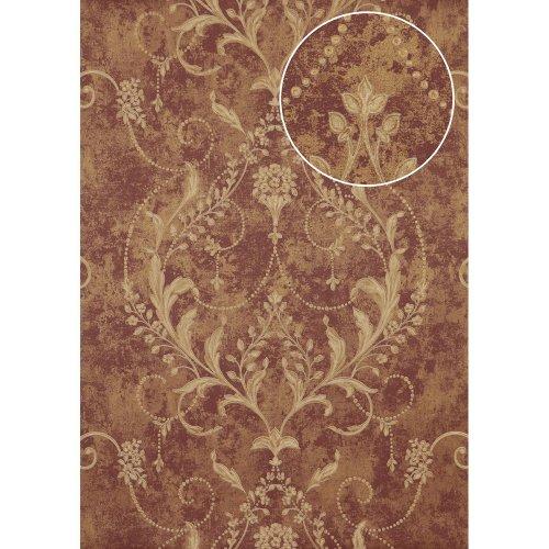 Atlas ATT-5084-3 Baroque wallcovering wall shiny violet bronze 7.035 sqm