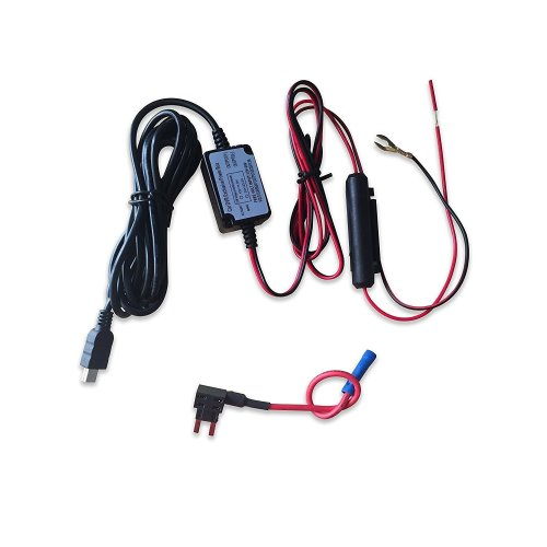 Car Camera Hard Wire Kit- Mini USB Dash Cam 10 Foot Hardwire and Fuse on
