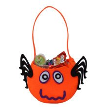 Trick Or Treat Pumpkin Halloween Party Decor Children Prop Candy Storage-A1