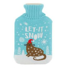 Warm Cute Hot-Water Bottle Water Bag Water Injection Handwarmer Pocket Cozy Comfort,J