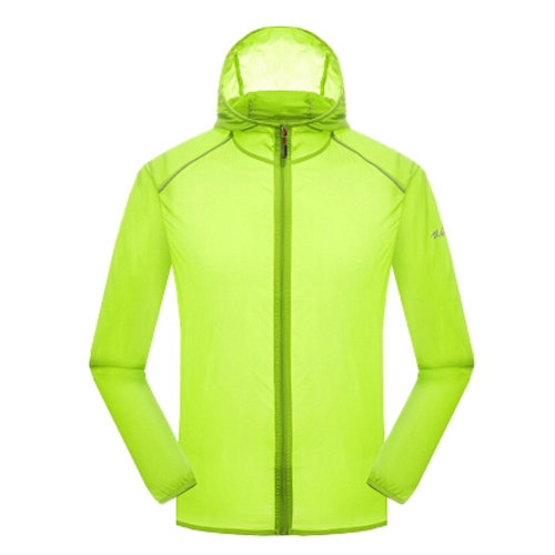 Super Lightweight Quick Dry Jackets UV Protector Windproof Skin Coat,Light Green