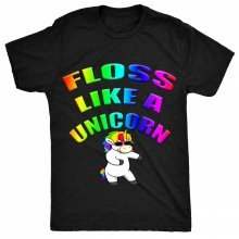 8TN Floss like a Unicorn - Floss Dance Unisex-children T Shirt