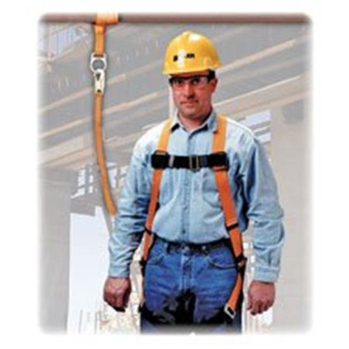 Full-Body Harness, 310 lb. Cap., Black-Yellow