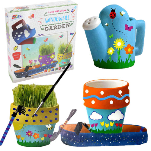 Grafix Paint and Grow Your Own Windowsill Garden Age 5+