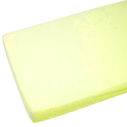 1x Cot 100% Cotton Jersey Fitted Sheet 120x60cm Lemon