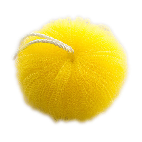 3 PCS Pumpkin Shape Bath Ball Bath Sponge Scrubber Bath Mesh, Yellow