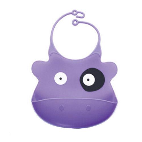 Kids Premium Silicone Soft Bibs Lovely Cartoon Design Soft & Waterproof Cow