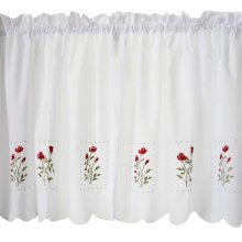 Sweet Flower Embroidered Curtain Kitchen curtain Coffee Screens