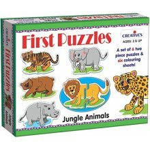 Creative Educational - Firstpuzzles - Jungle Animals - Cre0794 First Puzzles -  cre0794 creative educational first puzzles jungle animals