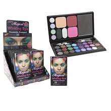 Glamour Connection 33 Colour Magical Winking Eye Cosmetic Colour Set With 3 -  magical winking cosmetic eye brushes compact shadow make up mirror new