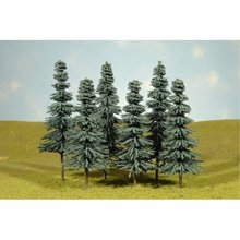 "Bachmann Industries Scene Scapes Trees 3""- 4"" Blue Spruce Trees N Scale Train (9 Piece)"