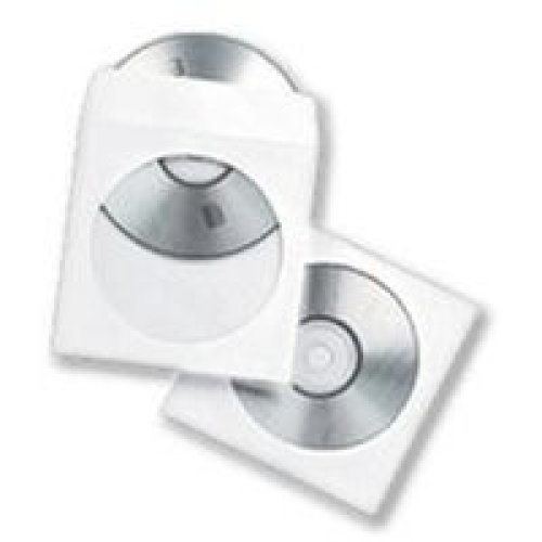 Fellowes 90690 Sleeve case 1discs Transparent,White