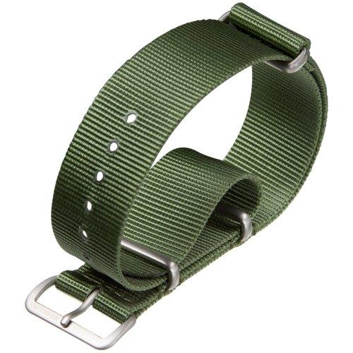 NATO G10 Nylon Military Watch Strap by ZULUDIVER, Green, 18mm