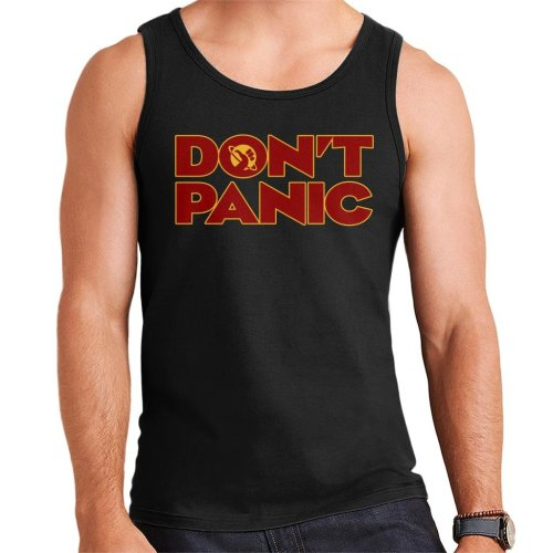 Dont Panic Hitchhikers Guide To The Galaxy Men's Vest