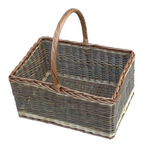 Bakers Shopping Basket Green Finish