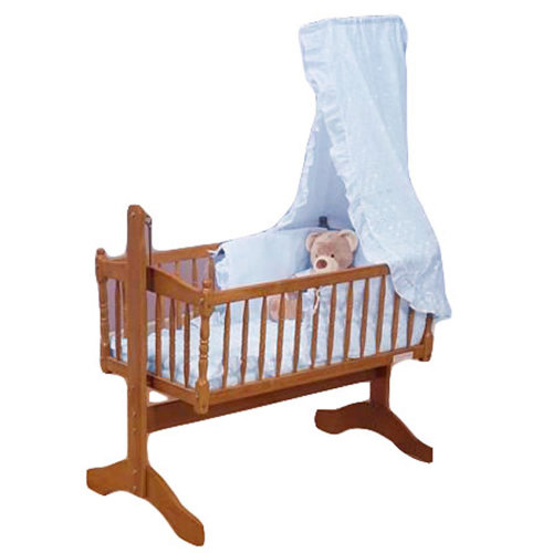 Broderie Anglaise Baby Crib 3 Piece Bedding Set Blue