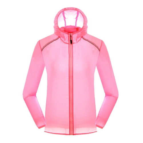Quick Dry Lightweight UV Protector Sports Jacket Windproof Skin Coat,Pink
