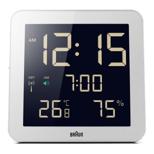 Braun Digital Global Radio Controlled Wall Clock BNC014WH-RC White